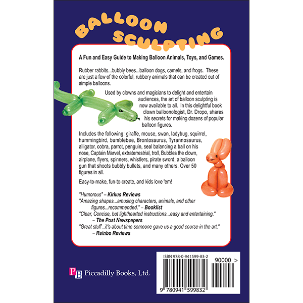 Balloon Sculpting Back Cover