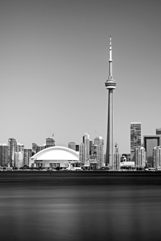 CN Tower Black and White