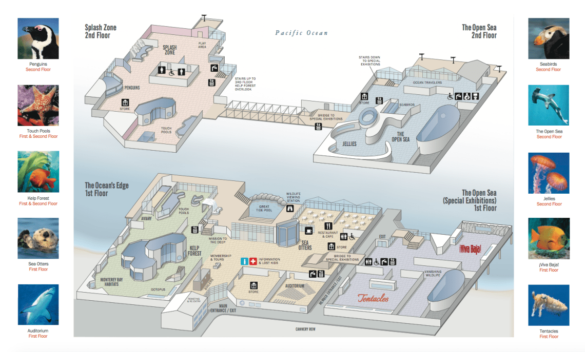 Monterey Bay Aquarium Map