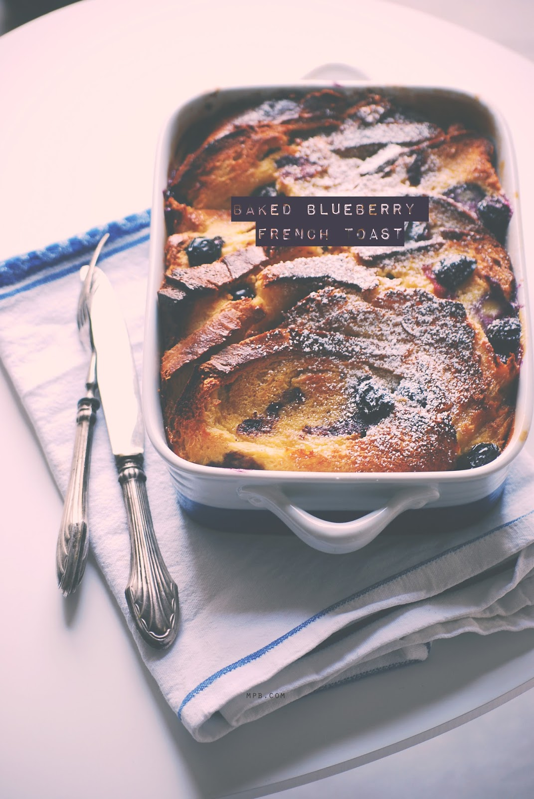 Baked blueberry french toast (how to save a brioche)