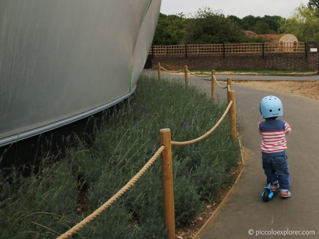 Scootering around Whipsnade Zoo