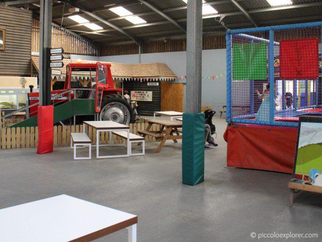 Indoor play area at Bocketts Farm Park Surrey