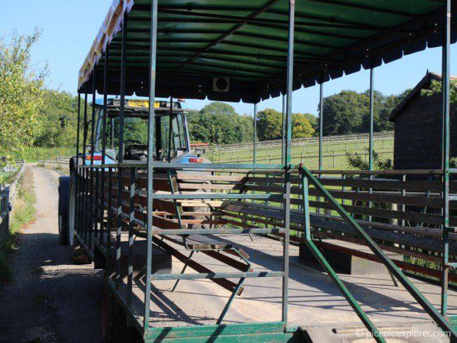 Tractor ride at Bockett Farm Park Surrey