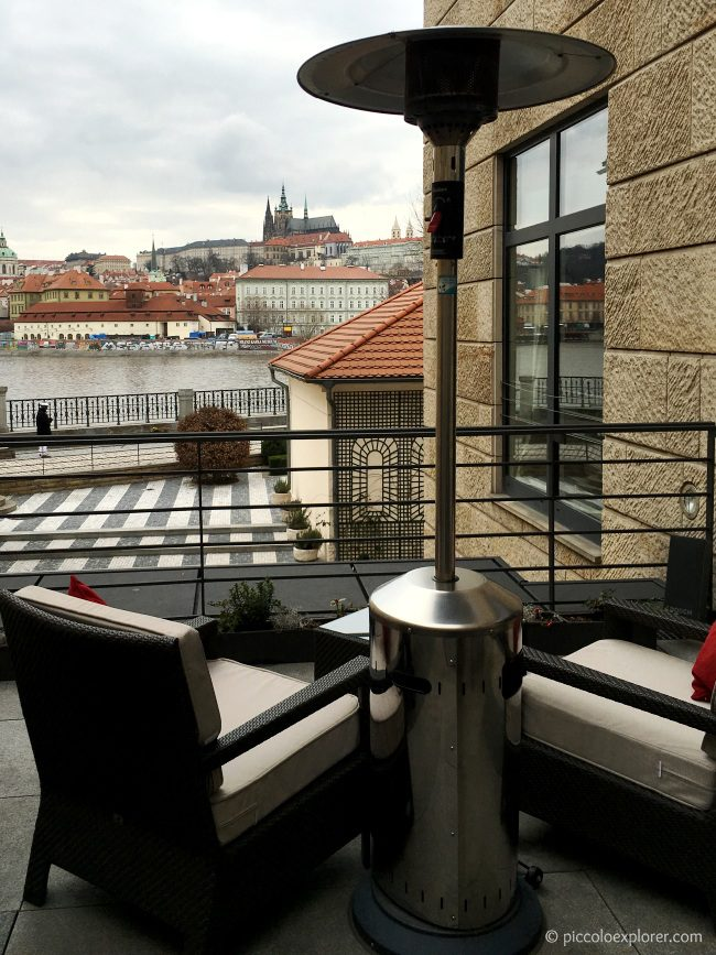 Prague Castle view from CottoCrudo Four Seasons
