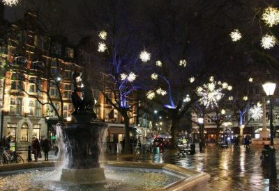 Sloane Square Christmas Lights Chelsea London