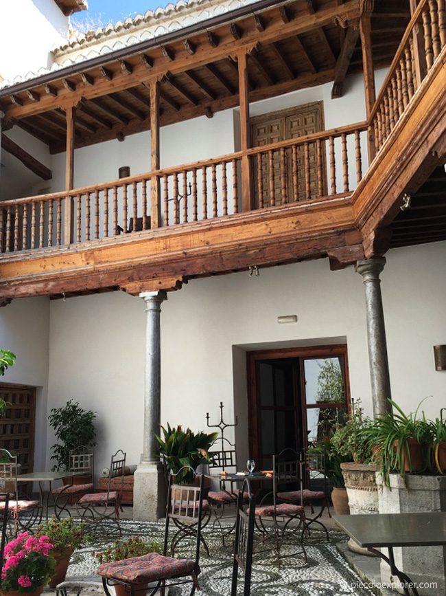 Inner courtyard at Palacio Conde de Cabra, Granada