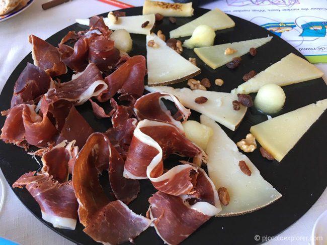 Iberian ham and cheese plate, Carmen Aben Humeya, Granada