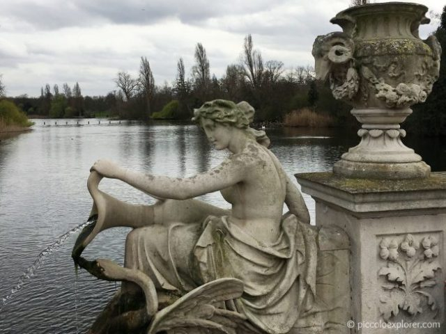 Tazza Fountain in the Italian Gardens, Kensington Gardens, London