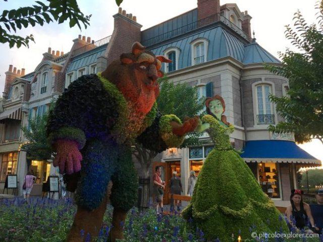 Beauty and the Beast topiary, Epcot International Flower & Garden Festival, Walt Disney World, Orlando