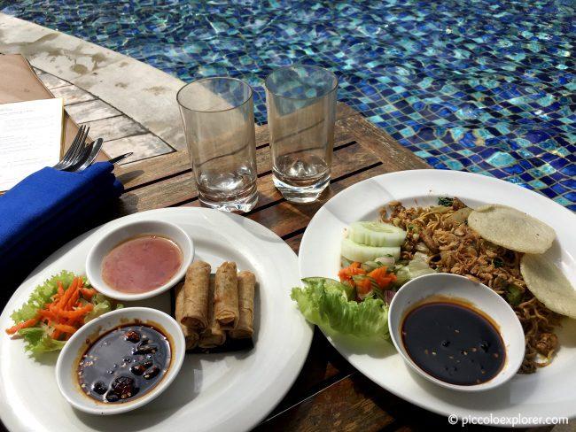 Poolside Meal, Padma Resort Legian, Bali