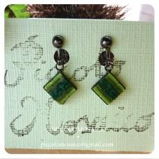 orecchini verdi micromosaico astratto 03