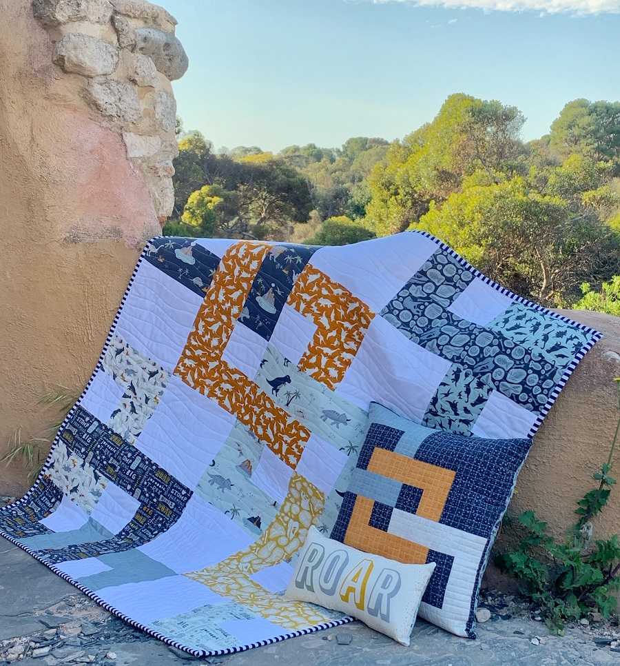 Fossil rim quilt by Piccolo Studio for Riley Blake Designs #missinglinkquilt