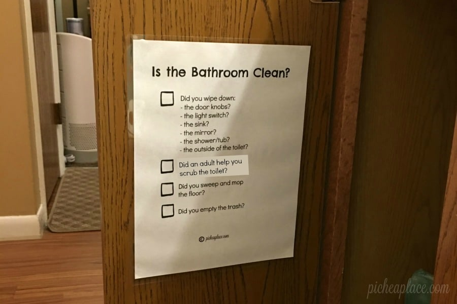 Teaching Kids To Clean The Bathroom Free Printable