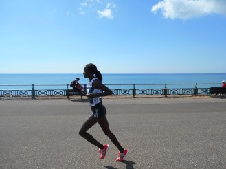 Women's 1st place winner Grace Momanyi - came in at 02:34:11