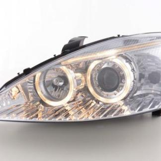 faruri ford focus 1 angel eyes crom chrome cu lupa xenon depo
