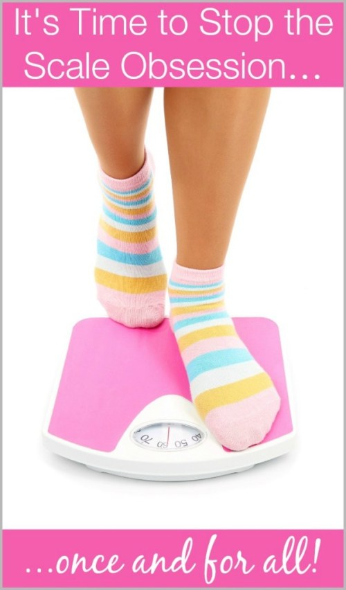 Stop the scale obsession once and for all! Great post about making peace with your body and improving your body image by challenging how often you think about your weight.