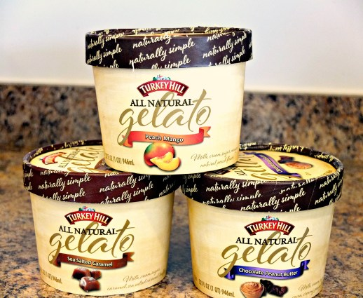 Turkey Hill All Natural Gelato - 3 Flavors Stacked