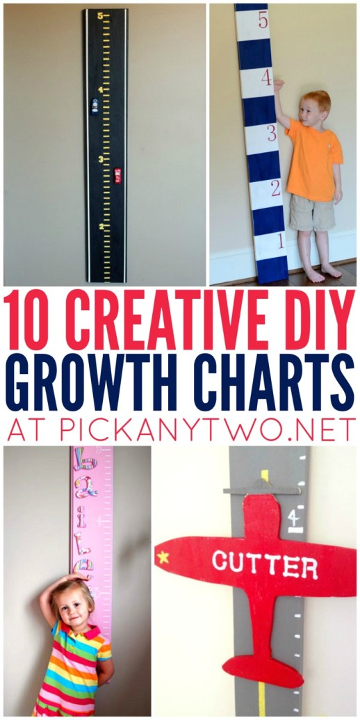 10 Creative DIY Growth Charts