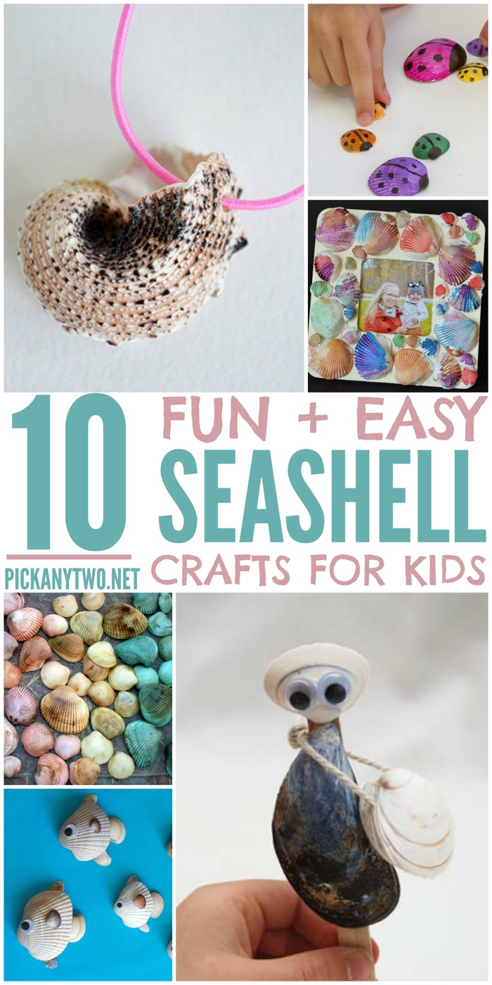 10 Fun Easy Seashell Crafts For Kids Pick Any Two