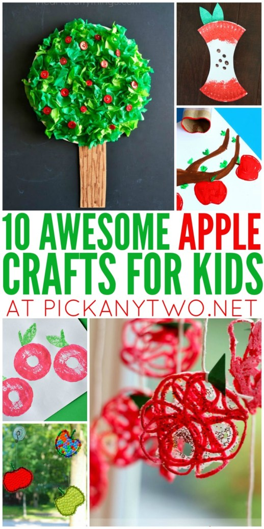 Awesome Apple Crafts for Kids