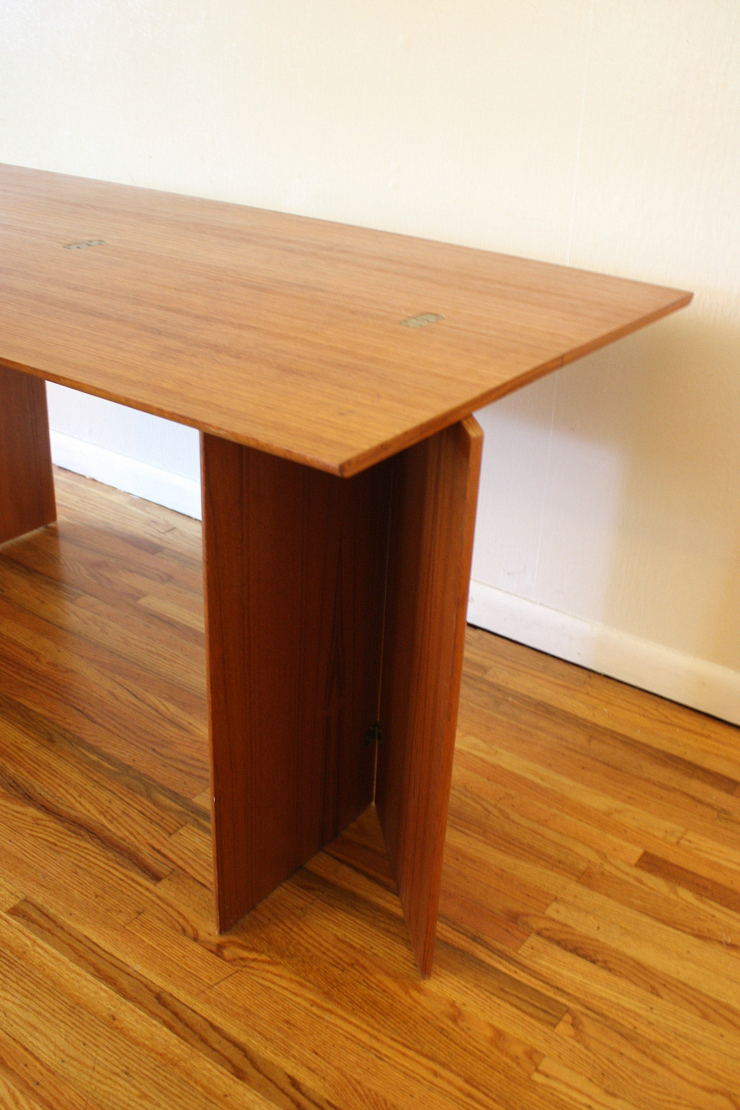 Mid Century Modern Convertible Table Picked Vintage