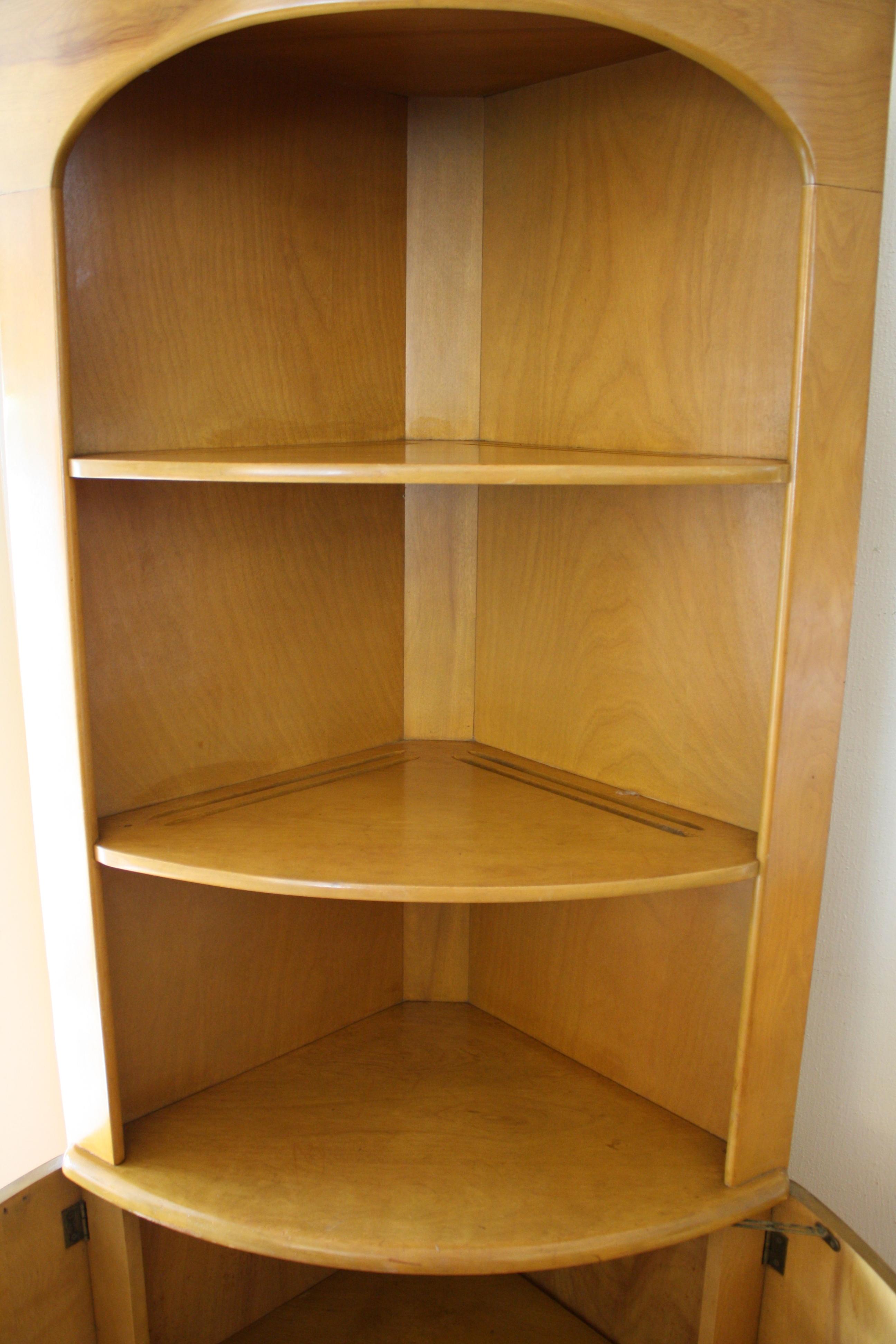 Heywood Wakefield Corner Cabinet Bench Amp Bookshelf