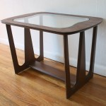 Mid Century Modern Sculpted Side End Table With Glass Top Picked Vintage