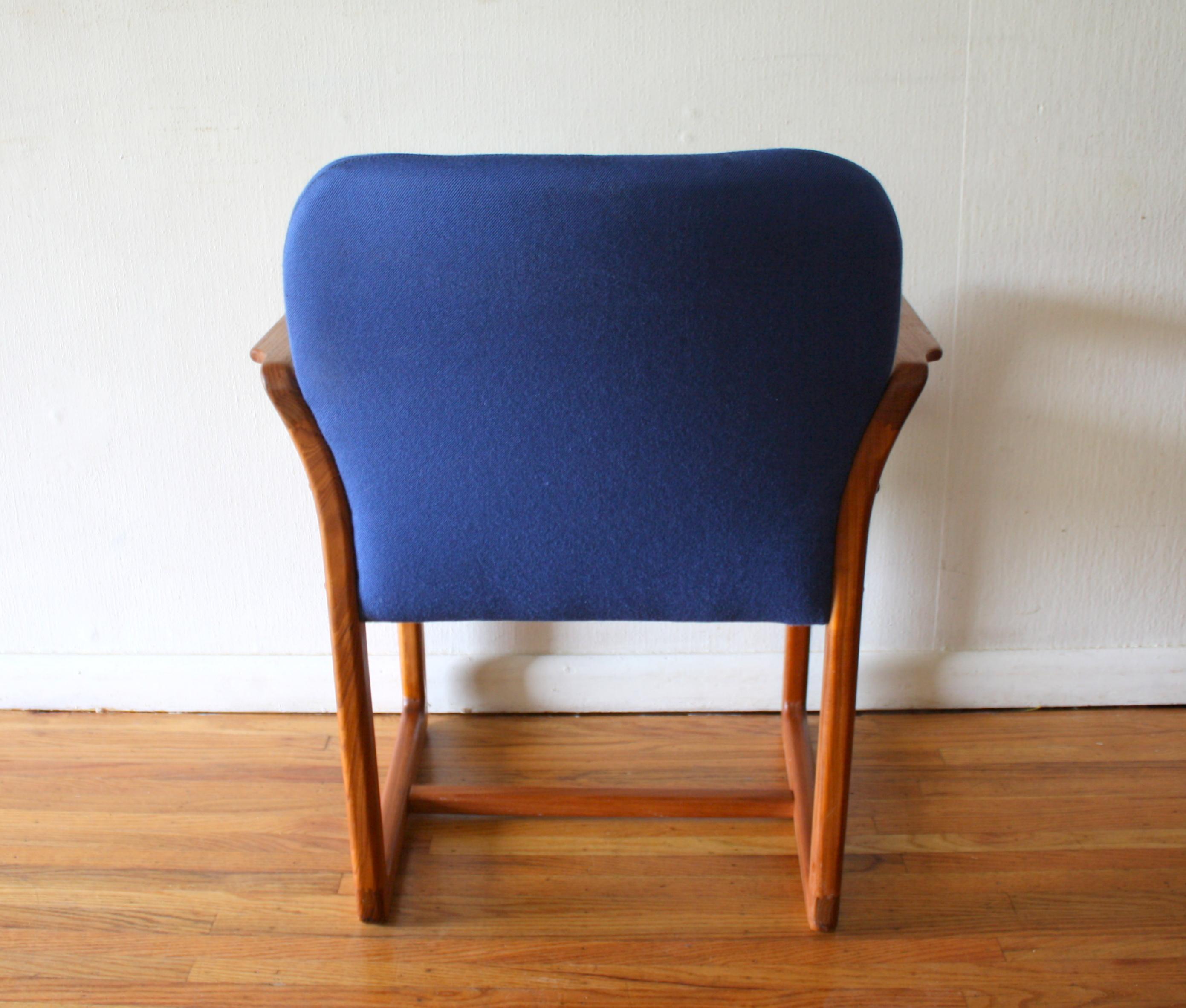 Mid Century Modern Teak Arm Chair Picked Vintage