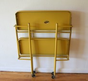 mcm yellow folding bar serving cart 3