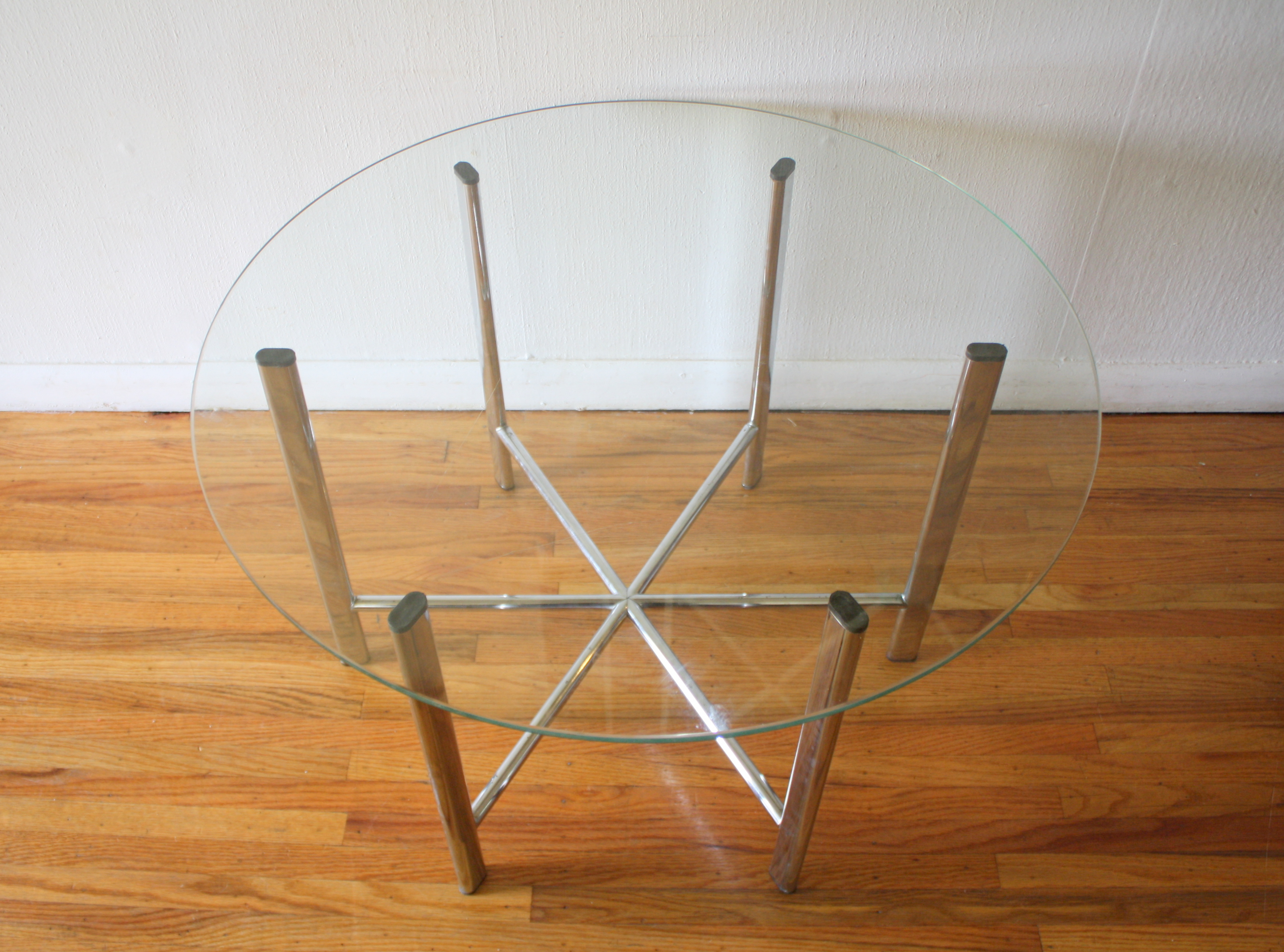 Mid Century Modern Glass And Chrome Tables Picked Vintage