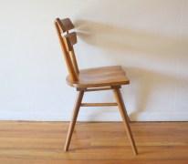 mcm blonde splayed leg chair 3