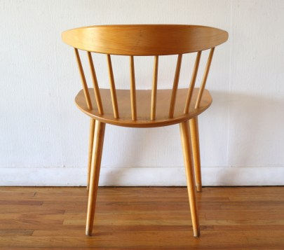 mcm danish blond spindle back chair 4