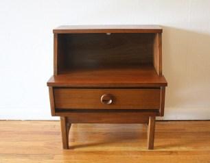 mcm slanted nightstand Danish pull 1