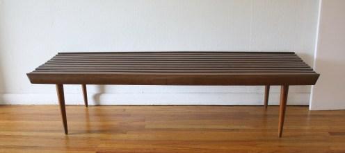 mcm long slatted bench 3