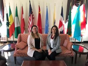 Mery Arcila and Oriana Luquetta at Seton Hall Outreach Event Feb. 2019