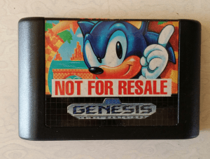 Sonic The Hedgehog cartridge
