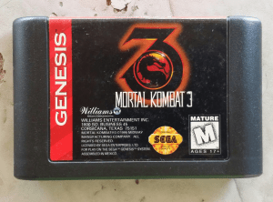 mortal kombat 3 cartridge