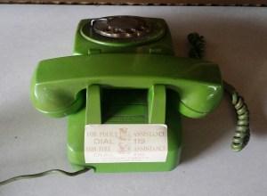 stromberg carlson neon green rotary phone back