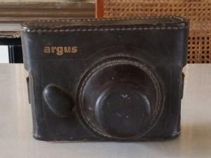argus camera leather case