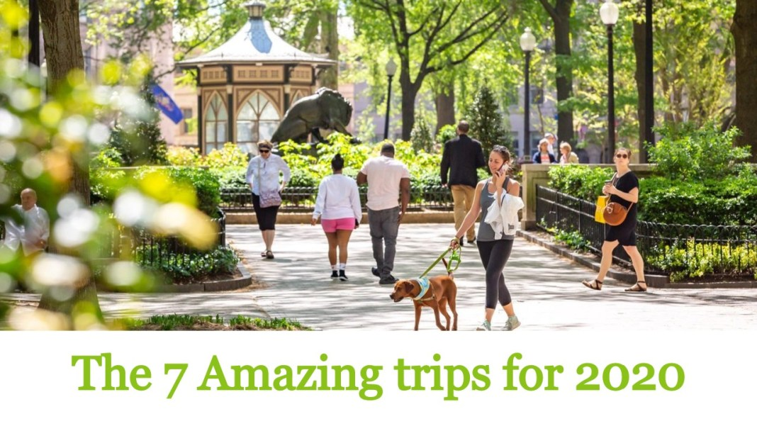 7 amazing trips for 2020