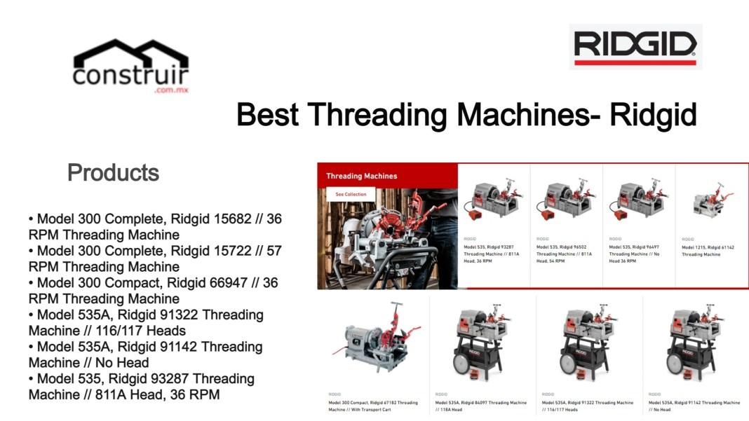 Best Threading Machines- Ridgid