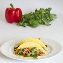 Turkey Kale Tacos