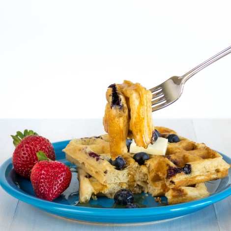 Blueberry Cheesecake Waffles-6
