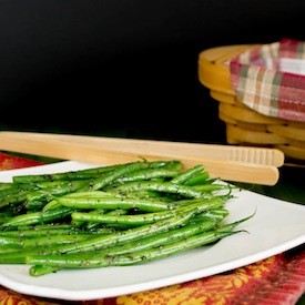 Basil and Garlic Green Beans