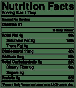 NutritionLabel-Chocolate Ganache