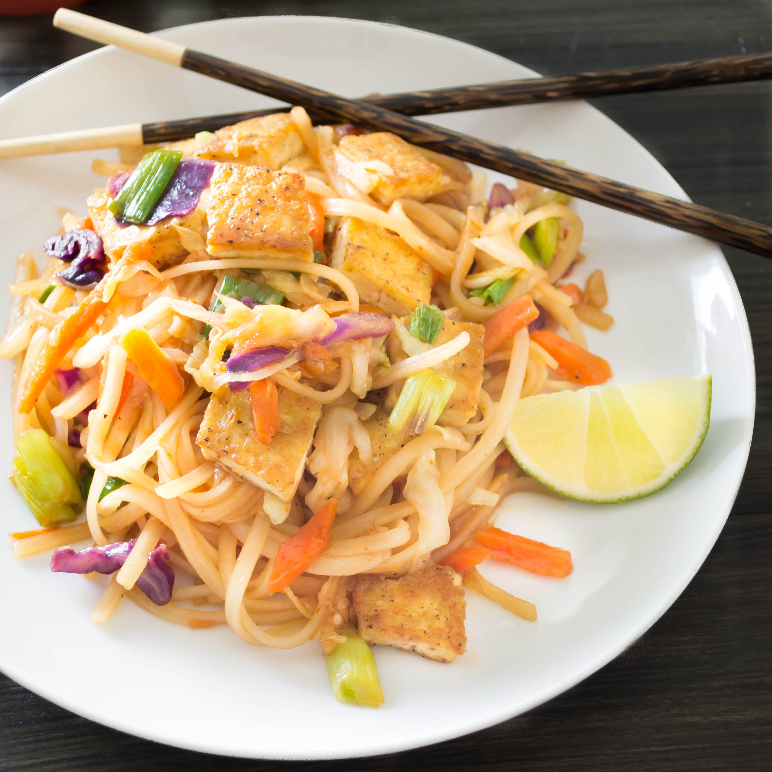 Spicy Asian Noodles...seared tofu and rice noodles coated in a ...