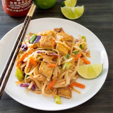 tofu and rice noodles