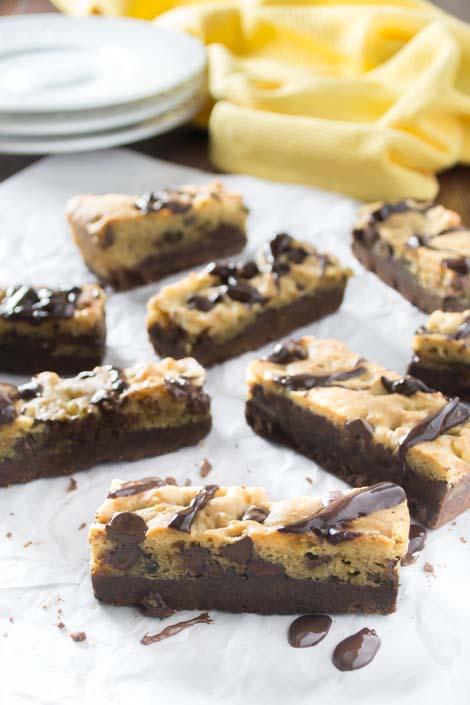 Triple Chocolate Cookie Bars
