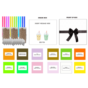 Personalised Bubble Tea Kit (All Flavours) Serves 12