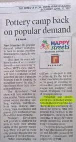 The Times of India Navi Mumbai, date April 22, 2017
